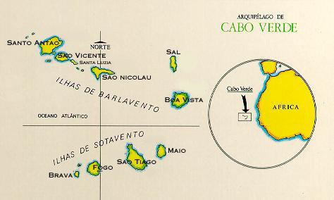 map of cape verde