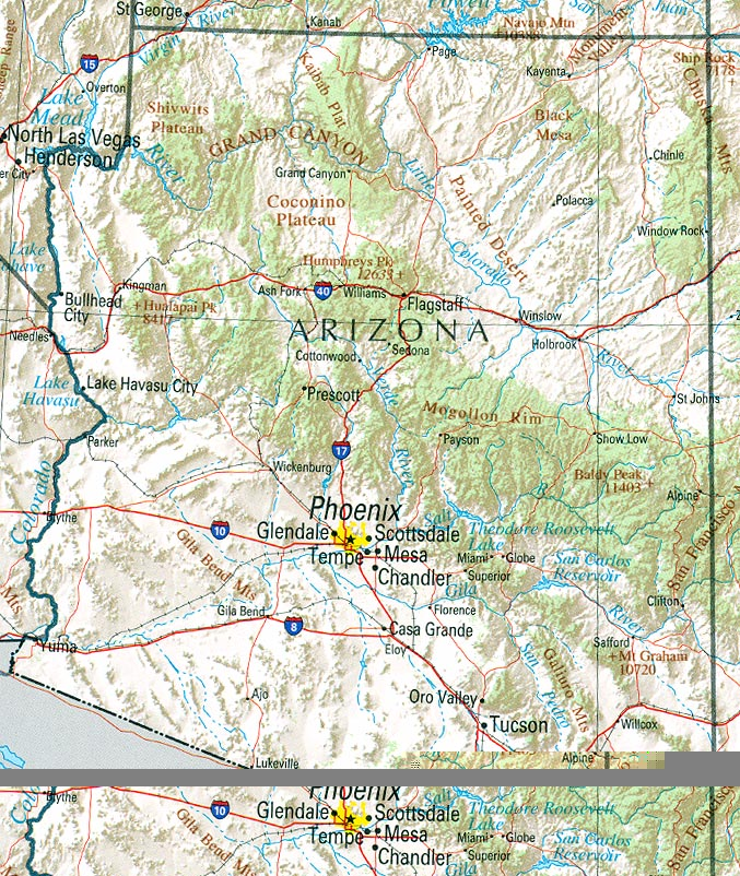 Arizona map – Travel Map Of Arizona