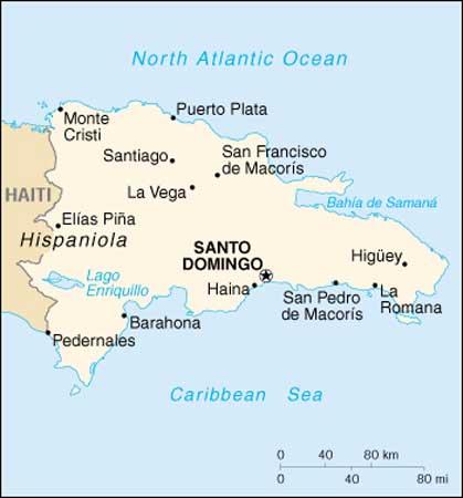 Map Dominican Republic